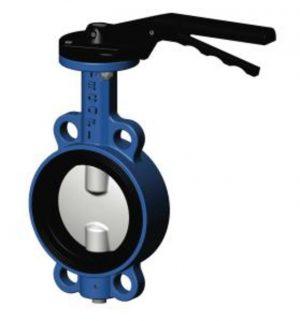 затвор поворотный, дисковый, межфланцевый ду 150